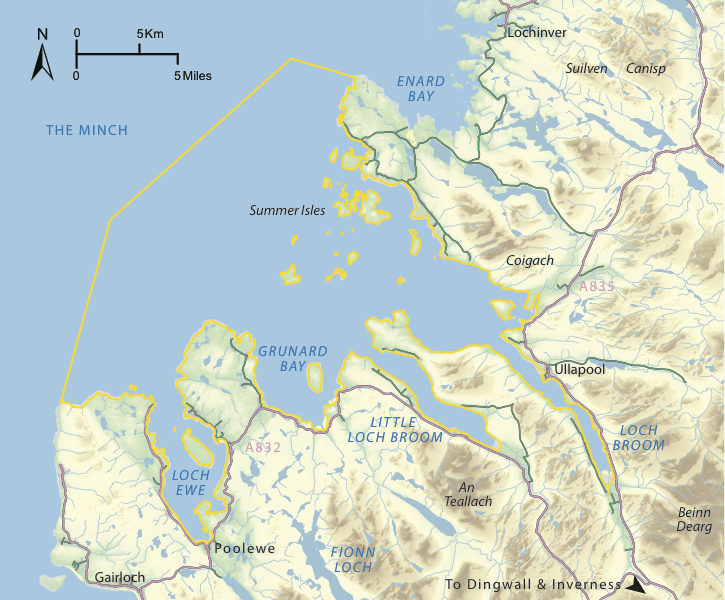Map of Scotland & Wester Ross Marine Protected Area (a maerl MPA )